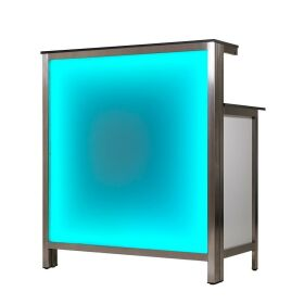 Longdrinking counter 1.25m with LED RGB light box 1,25m Foamlite Schwarz