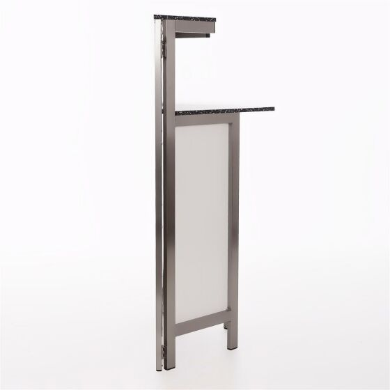 Corner piece for GDW hinged counter stainless steel / worktop PE