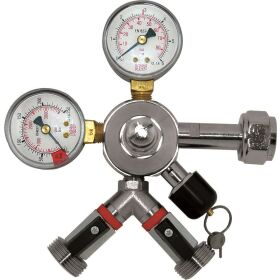CO² pressure regulator 2 way 3 bar